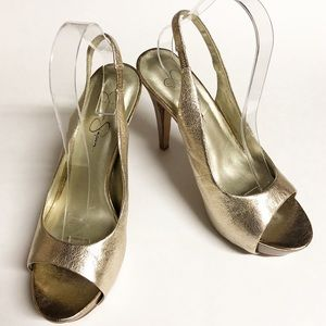 Jessica Simpson Light Gold Sandals.  Sz 9.5 M